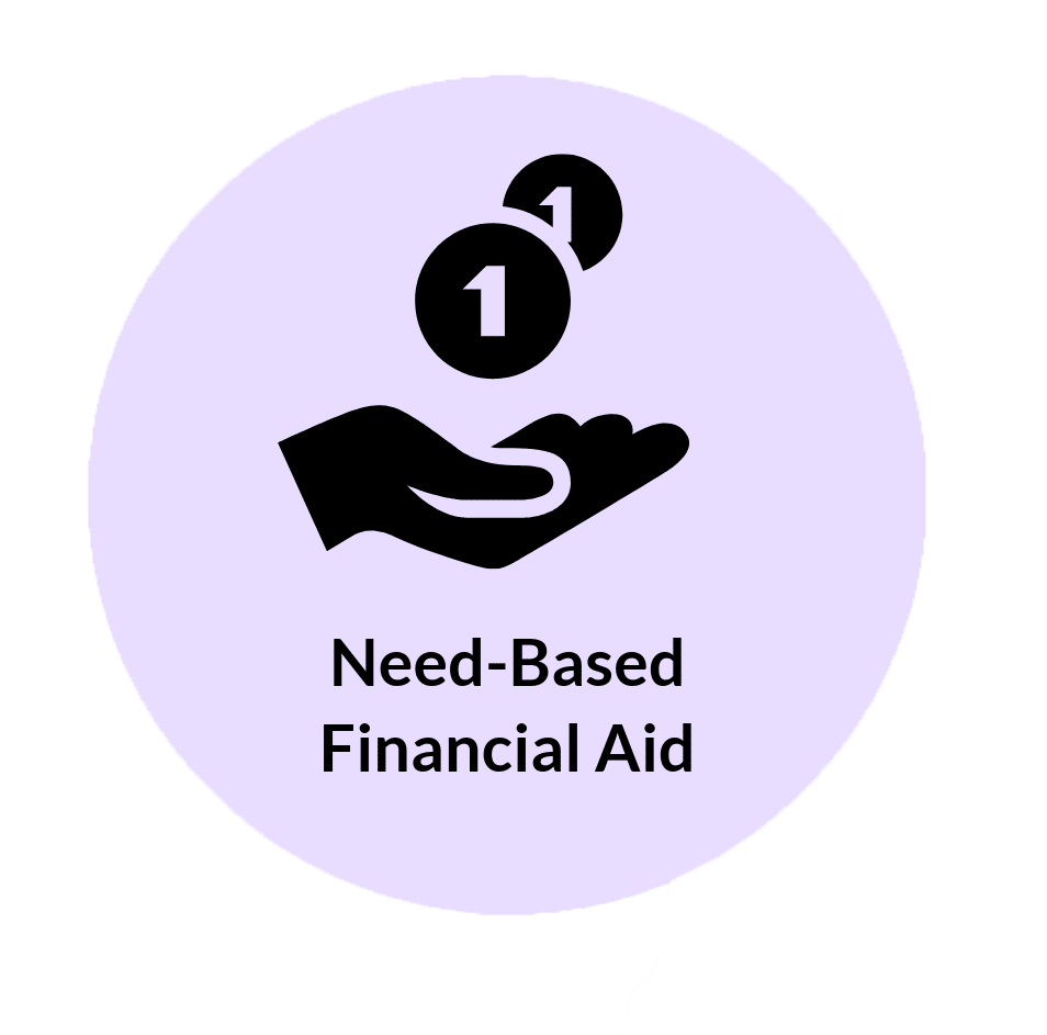 Need based financial aid icon